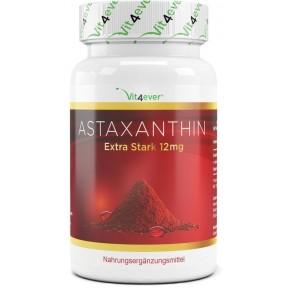 Астаксантин 12 мг ВЫСОКАЯ ДОЗА, запас на 2-3 МЕСЯЦА с натуральным витамином Е и оливковым маслом, сильный антиоксидант, 100% чистота, ИЗ ГЕРМАНИИ