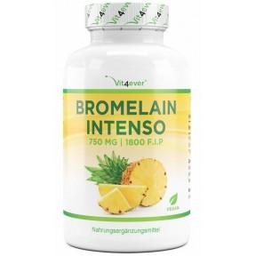 Бромелайн 750 мг, запас на 2-3 месяца, экстракт ананаса, высокая биодоступность, ускоряет заживления, восстанавливает клетки, снижает воспаления. Из Германии