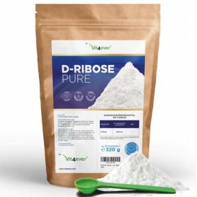 D-рибоза 320 г, запас на 3-4 МЕСЯЦА, натуральный из ферментации, 100% чистота, даёт энергию, полезна при тренировках, улучшает работу мышц, ИЗ ГЕРМАНИИ