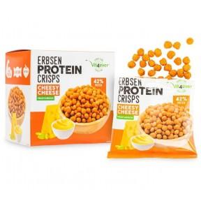 Чипсы из горохового белка - 42% вегетариаского белка, 5 пакетиков в коробке. Вкусный и полезный протеин, удобно брать на тренировку. 1 пакет содержит 25 грамм белка. ИЗ ГЕРМАНИИ