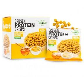 Чипсы из горохового белка со вкусом меда и горчицы. 42% белка, веганcкие. 5 пакетиков в коробке. Для поддержания мышечной массы, удобно брать с собой. ИЗ ГЕРМАНИИ