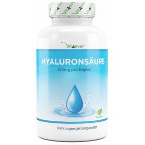 Гиалуроновая кислота 500 мг, запас на 3-4 месяца, размер молекулы 500-700 КДА, из ферментации кукурузы, 100% растительный продукт, против морщин, ИЗ ГЕРМАНИИ