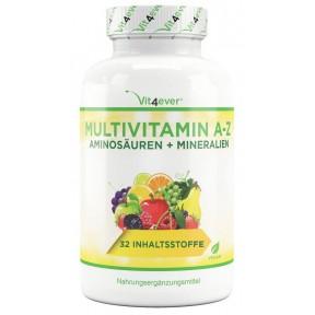 Мультивитаминный комплекс Витамины + Минералы + Аминокислоты, ЗАПАС НА 1 ГОД! Повышает иммунитет, укрепляет колоссы, ногти, кости, связки, дает энергию. ИЗ ГЕРМАНИИ