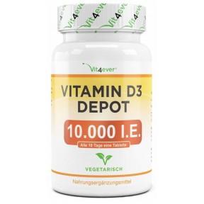 Витамин D3 Депо 10.000 I. E., ЗАПАС НА 1 ГОД! Укрепляет зубы, кости, мышцы, регулирует кальций, укрепляет нервную систему, память, работу мозга. ИЗ ГЕРМАНИИ