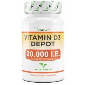 Витамин D3 Депо 20.000 Е., БОЛЬШОЙ ЗАПАС НА 8-9 МЕСЯЦЕВ, укрепляет иммунитет, нервную систему, предгормон Д, предотвращает остеопороз, 100% чистота, ИЗ ГЕРМАНИИ
