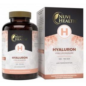 Гиалуроновая кислота - натуральная, высокая доза 500 мг, Запас на 2-3 месяца, размер 500-700 КДА, высокая биодоступность, из брожения, веганское качество, ИЗ ГЕРМАНИИ