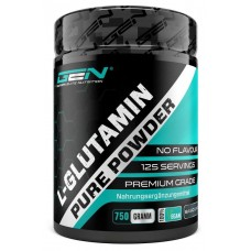 Порошок L-глутамина, 750 грамм, аминокислота, для синтеза белка, для активных людей и спортсменов, дает энергию, помогает нарастить мышцы, ускоряет восстановление, ИЗ ГЕРМАНИИ