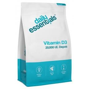 Витамин D3 депо 20.000 Единиц, ОГРОМНЫЙ ЗАПАС НА 2 ГОДА! 250 таблеток в упаковке, важный пред-гормон для иммунитета, для мозга, зрения, костей, зубов, дает энергию. ИЗ ГЕРМАНИИ