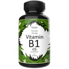 Витамин B1 – Тиамин - ЛУЧШАЯ ДОЗИРОВКА 100 мг, большой запас на 6-7 МЕСЯЦЕВ, 180 штук в банке. Дает энергию , для здоровья сердца, нервной системы, метаболизма, из ГЕРМАНИИ