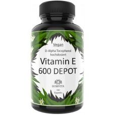 Витамин Е альфа токоферол, запас на 3-4 месяца, 100% чистота, растительный, улучшает кожу, придает упругость, помогает с акне, ускоряет заживление ран, из ГЕРМАНИИ
