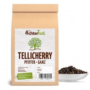 Перец Tellicherry созревший, 100% чистота, цельный, вес – 100 грамм, укрепляет десны, нормализует обмен веществ, снижает отечность, Содержание пиперина 6,6%, эфирного масла 4,7, ИЗ ГЕРМАНИИ