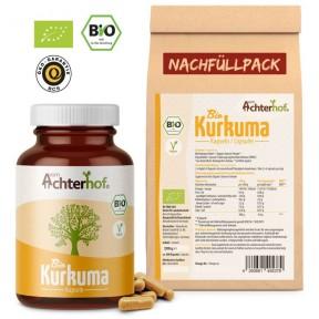 Куркума, НАБОР - 1 баночка плюс 1 пакет с запасом на 6-7 МЕСЯЦЕВ, снижает воспаления, против грибков и вирусов в организме, улучшает кожу, кости и зубы, ИЗ ГЕРМАНИИ