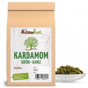 Кардамон зеленый, цельный, ароматный, обладает легкой остротой, но и сладкими нотками, кладут в кофе или чай, содержит витамины: В1, В2, В3, цинк, магний, 100 г ИЗ ГЕРМАНИИ