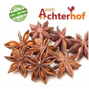 Семена Аниса звездчатого, Бадьян настоящий, 100% чистота, звездчатый анис на вкус более острый и ароматный, чем обычный анис, против воспалений и микробов, 100 г ИЗ ГЕРМАНИИ