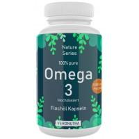 ОМЕГА 3, рыбий жир, 100% ЧИСТОТА, ЗАПАС НА 3-4 МЕСЯЦА, 100 капсул, без нежелательных добавок, с витамином Е, высокая дозировка, для мозга, нервной системы, кожи, ногтей, ИЗ ГЕРМАНИИ