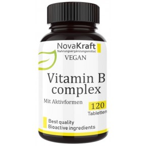 АКТИВНЫЙ Комплекс витаминов группы B, ЗАПАС НА 3-4 МЕСЯЦА, 120 таблеток, ВСЕ АКТИВНЫЕ ИНГРЕДИЕНТЫ, 100% чистота, для мозга, нервной системы, восстановления нервов, ИЗ ГЕРМАНИИ