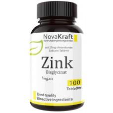 ЦИНК в хелатной форме, цинк бисглицинат, ЗАПАС НА 3-4 МЕСЯЦА, правильная доза - 25 мг на таблетку, важен для зрения, костей, кожи, простаты, поддерживает тестостерон, ИЗ ГЕРМАНИИ