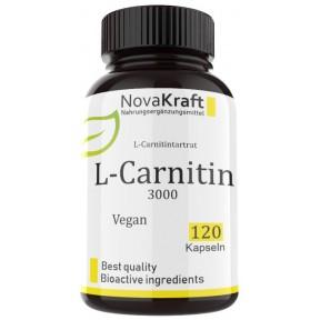 L-карнитин, 120 веганских капсул, ПРАВИЛЬНА ДОЗИРОВКА, 500 мг чистого L-карнитина на капсулу, для активных людей и спортсменов, дает энергию, насыщает кровь кислородом, ИЗ ГЕРМАНИИ