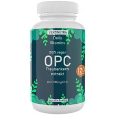 OPC экстракт виноградных косточек, запас на 4-5 МЕСЯЦЕВ, 120 капсул, веганский, 100% чистота, против воспалений, укрепляет иммунитет, волосы, полезен при диабете, против инфекций, ИЗ ГЕРМАНИИ