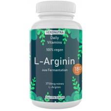 Растительный L-аргинин, из ферментации кукурузы! 180 капсул, веганский, улучшает работу сердца, регулирует давление; нормализует работу нервной системы, ИЗ ГЕРМАНИИ