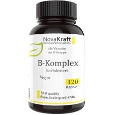 B – комплекс, витамины, запас на 4-5 МЕСЯЦЕВ, 120 капсул, веганский, укрепляет нервы, мозг, улучшает сон, восстанавливает клетки печени, поддерживает сердце, 100% чистота, Из Германии