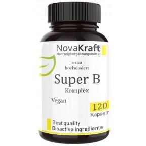 СУПЕР B-комплекс, Экстра высокая дозировка с витамином С для быстрого усвоения, Запас на 4-5 МЕСЯЦЕВ, для мозга, восстанавливает нервную систему, укрепляет сердце, сосуды, ИЗ ГЕРМАНИИ