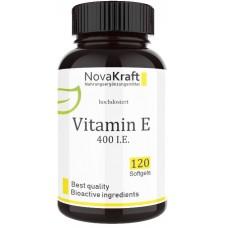 Витамин Е, ВЫСОКАЯ ДОЗИРОВКА 400 МЕ, запас на 4-5 МЕСЯЦЕВ, для здоровья кожи, сердца, сосудов, улучшает пищеварение, помогает восстанавливать ткани, ИЗ ГЕРМАНИИ
