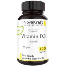 Витамин D3, 10.000 единиц, веганский, запас на 4-5 МЕСЯЦЕВ, повышает иммунитет, восстанавливает нервную систему, улучшает сон, холекальциферол, 100% растительный, ИЗ ГЕРМАНИИ