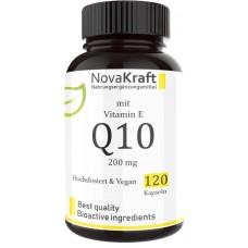 Коэнзим Q10 + витамин Е, ЭКСТРА высокая доза! 200 мг чистого коэнзима на капсулу, для укрепления сердца, печени, почек, омолаживает, укрепляет сосуды, восстанавливает клетки мозга, ИЗ ГЕРМАНИИ