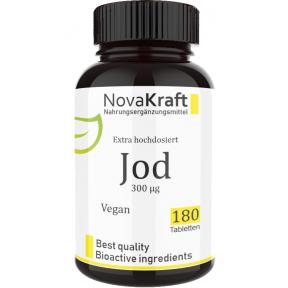 Йод, ВЫСОКАЯ ДОЗА! 300 мкг на 1 таблетку! 100% чистота, для здоровья щитовидной железы, налаживает гормональный фон, важен для работы мозга, мужской и женской фертильности, ИЗ ГЕРМАНИИ