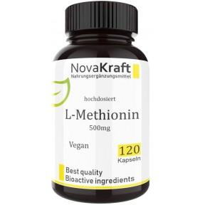 L-метионин, ЗАПАС НА 3-4 МЕСЯЦА, ВЫСОКАЯ ДОЗА 500 мг, веганский, строительный материал для кожи, волос, ногтей, убирает жир в печени, улучшает работу печени, 100% чистота, ИЗ ГЕРМАНИИ