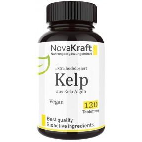 Келп, ЙОД натуральный, 450 мг, ОЧЕНЬ ВЫСОКАЯ ДОЗА! Запас на 6-7 МЕСЯЦЕВ! Растительный, бурые водоросли,  для здоровья щитовидной железы, 100% чистота, ИЗ ГЕРМАНИИ