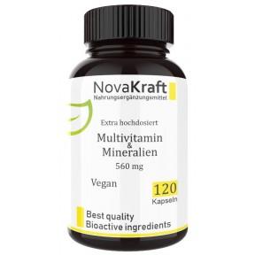 Комплекс Поливитамины + минералы, 120 капсул, ЗАПАС НА 6-7 МЕСЯЦЕВ, веган, содержит витамины группы B, селен, цинк, йод, магний, железо, витамин С, А, 100% чистота, ИЗ ГЕРМАНИИ