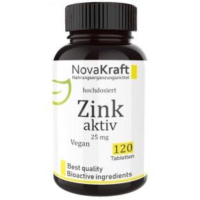 Цинк активный с витамином С, 25 мг элементарного цинка, высокая бидоступность, веганский, для поднятия тестостерона, повышает фертильность мужчин и женщин, 100% чистота, ИЗ ГЕРМАНИИ