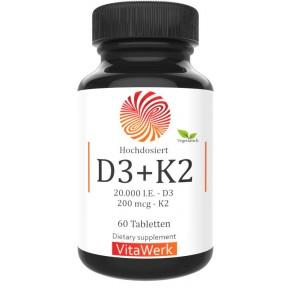 СИЛЬНЫЙ D3 + K2 – 20.000 ед., НА 6-7 МЕСЯЦЕВ, солнечный витамин Д 3, повышает иммунитет, укрепляет кости, зубы, волосы, ногти, дает силы, восстанавливает нервы, клетки мозга, зрения, ИЗ ГЕРМАНИИ