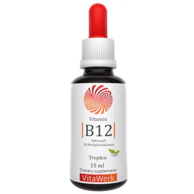 Жидкий B12, в каплях, веганский! ДВЕ активные формы Аденозилкобаламин плюс метилкобаламин I Запас на 6-7 МЕСЯЦЕВ! Укрепляет клетки мозга, восстанавливает нервы, для спокойного сна, придает сил, биоактивный! ИЗ ГЕРМАНИИ