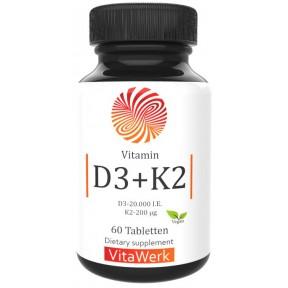 РАСТИТЕЛЬНЫЙ D3 20.000 + K2 MK7, ВЫСОКАЯ ДОЗА! ЗАПАС НА 7-8 МЕСЯЦЕВ! 100% чистота из лишайника, восстанавливает нервную систему, важен при ПМС, укрепляет иммунитет, зубы, ногти, ИЗ ГЕРМАНИИ