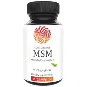 МСМ - метилсульфонилметан, запас на 3-4 МЕСЯЦА, 90 капсул, 1600 мг серы на суточную дозу, 99,9% чистоты, Высокая биодоступность, меш фактор 60-80, MSM сера, из ГЕРМАНИИ