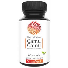 Натуральный витамин С, ягода Каму-Каму, ЗАПАС НА 2-3 МЕСЯЦА, повышает иммунитет, важен для мозга, сердца, влияет на обмен веществ, улучшает концентрацию, ИЗ ГЕРМАНИИ