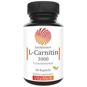 L-карнитин, 60 капсул, 500 мг чистого L-карнитина, важен для активных людей, дает силы, энергию, насыщает кровь, для спортсменов, веганский, 100% чистота, ИЗ ГЕРМАНИИ