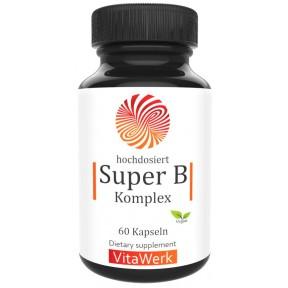Комплекс витаминов B, сверхвысокая доза! Веганский, для нервной системы, улучшает работу мозга, важен во время беременности, содержит активные формы! 100% чистота, ИЗ ГЕРМАНИИ