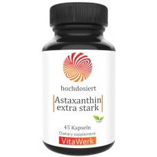 Астаксантин с витамином Е, очень высокая доза 12 мг, антиоксидант, снимает болевые синдромы, воспалительные процессы, укрепляет сосуды, суставы и сухожилия, 100% чистота, ИЗ ГЕРМАНИИ