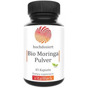 Моринга, запас на 1,5-2 месяца, 100% чистота, веганский, 600 мг, содержит витамин А (бета-каротин), В1 (тиамин), В2 (рибофлавин), витамин В3 (ниацин), В6 (пиродиксин), В7 (биотин), ИЗ ГЕРМАНИИ