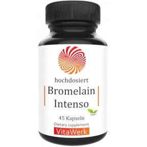 Бромелайн, с 750 мг экстракта, запас на 1,5-2 МЕСЯЦА, натуральный пищеварительный фермент, из плода и стебля ананаса, против воспалений, 100% чистота, ИЗ ГЕРМАНИИ