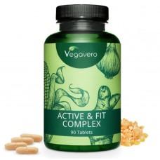Active & Fit Complex- Глюкозамин, экстракт лука, босвеллия, куркума, имбирь и Галгант. 1 упаковки ХВАТАЕТ НА 3-4 МЕСЯЦЕВ ПРИЁМА! Продукт из ГЕРМАНИИ. Уникальная цена! Высококачественные Растительные Экстракты