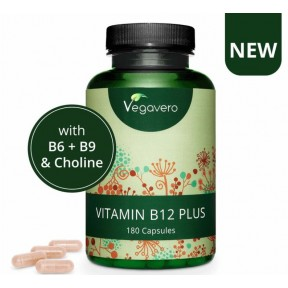 ВИТАМИН B12 ПЛЮС - С витамином B12 (метилкобаламин и Аденозилкобаламин), витамин B9/фолиевая кислота (5-MTHF), витамин B6 (P-5-P), холин. ОЧЕНЬ Большое количество