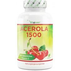 Ацерола 1500- ОЧЕНЬ большое количество в банке - 180 капсул! 750 мг витамина С на каждую капсулу  ХВАТАЕТ НА 6-7 МЕСЯЦА ПРИЁМА!  Продукт из ГЕРМАНИИ