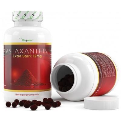 Астаксантин 12 мг - 150 капсулы Softgel с натуральным витамином Е и оливковым маслом - натуральный мощный антиоксидант из Германии