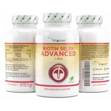Биотин, Селен, Цинк-365 - ОЧЕНЬ большое количество в банке - 365 таблеток! Каждая капсула содержит Биотин, Селен, Цинк! Продукт из ГЕРМАНИИ  ХВАТАЕТ НА 1 ГОД ПРИЁМА!