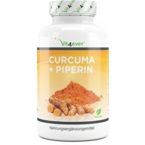 Куркума + пиперин-3000 мг в день-360 капсул из Германии